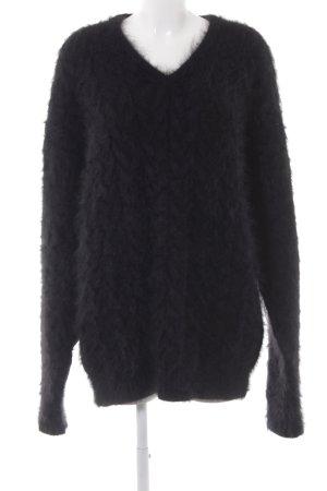 Dolce & Gabbana Longpullover schwarz Kuschel-Optik