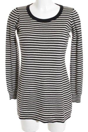 Dolce & Gabbana Longshirt schwarz-creme Streifenmuster Elegant