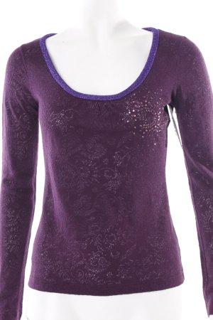 Dolce & Gabbana Longsleeve purpur-lila Casual-Look