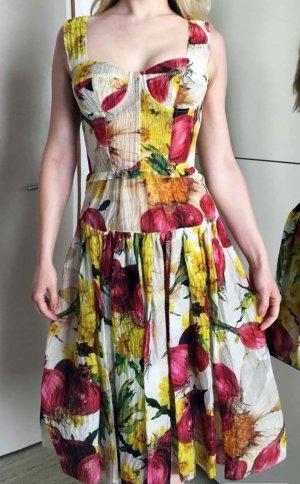 Dolce & Gabbana Vestido bustier multicolor