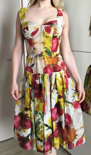Dolce Gabbana Luxus Blumenprint Sommerkleid S/36,  IT40