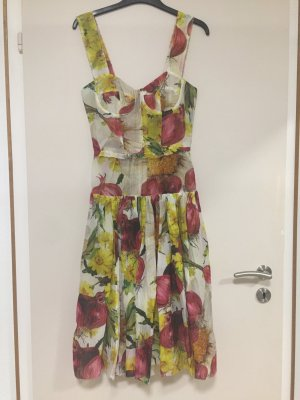 Dolce & Gabbana Vestido bustier multicolor Seda