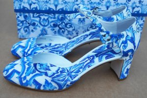 Dolce + Gabbana Majolica Mary Jane Pumps