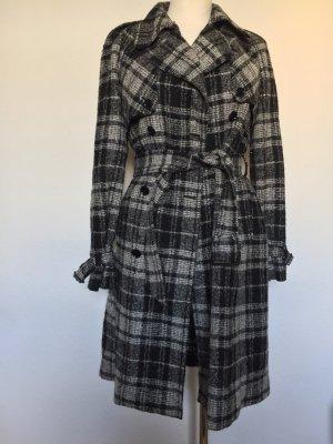 Dolce & Gabbana Manteau en laine noir-blanc