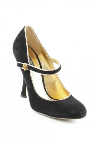 Dolce & Gabbana Mary Jane Pumps schwarz-goldfarben Elegant