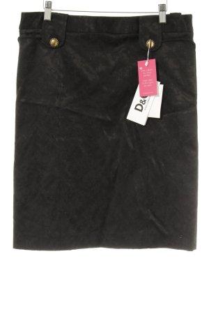 Dolce & Gabbana Jupe mi-longue noir motif floral élégant
