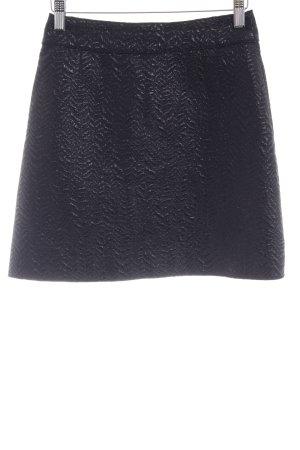 Dolce & Gabbana Minirock schwarz abstraktes Muster Business-Look