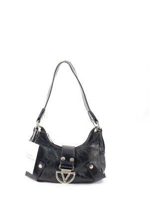 Dolce & Gabbana Minitasche schwarz-silberfarben Retro-Look