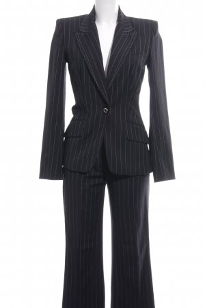 Dolce & Gabbana Pinstripe Suit black-white striped pattern business style