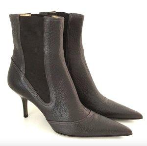 Dolce & Gabbana NEU Stiefeletten 37 Braun Leder 7cm High-Heels Boots Brown Dust Bag