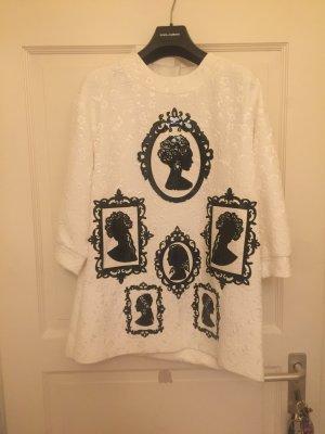 Dolce & Gabbana Short Sleeve Sweater white-black
