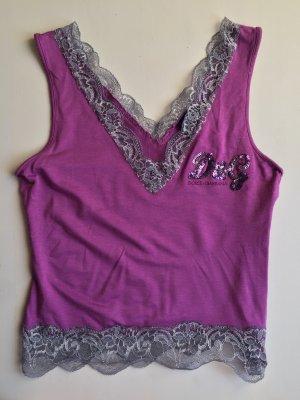 Dolce & Gabbana Basic Top dark violet-grey