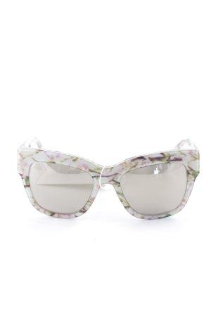 Dolce & Gabbana ovale Sonnenbrille Allover-Druck klassischer Stil