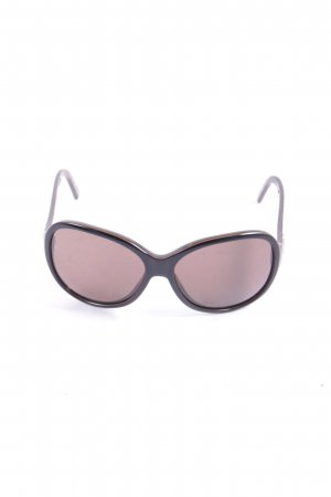 Dolce & Gabbana ovale Sonnenbrille braun-schwarz Street-Fashion-Look