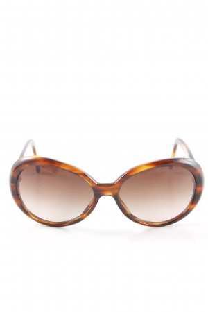 Dolce & Gabbana Oval Sunglasses cognac-coloured-light brown '60s style