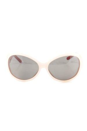Dolce & Gabbana Lunettes de soleil ovales motif à carreaux style extravagant