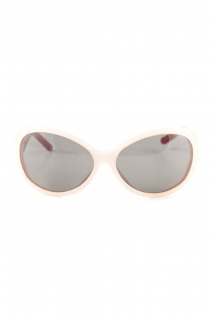 Dolce & Gabbana ovale Sonnenbrille Karomuster extravaganter Stil