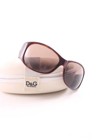 Dolce & Gabbana ovale Sonnenbrille rot-braun Casual-Look