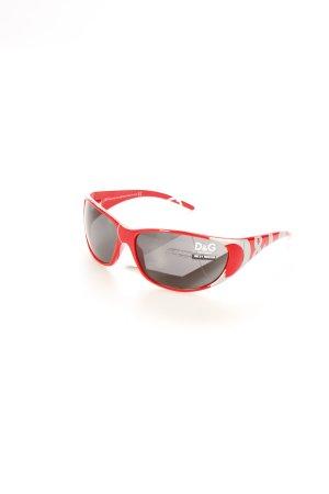 Dolce & Gabbana ovale Sonnenbrille rot-silberfarben sportlicher Stil