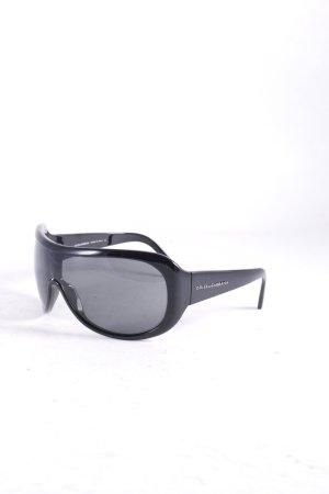 Dolce & Gabbana ovale Sonnenbrille schwarz Street-Fashion-Look