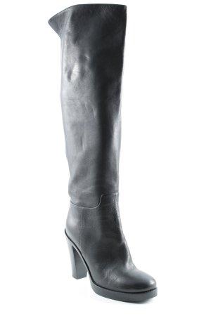 Dolce & Gabbana Overknees schwarz Casual-Look