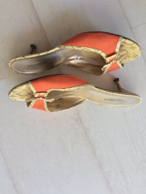 Dolce & Gabbana Heel Pantolettes orange-oatmeal