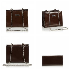 Dolce & Gabbana Shoulder Bag dark brown imitation leather