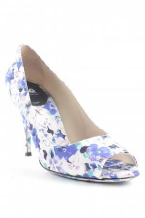 Dolce & Gabbana Peeptoe Pumps Blumenmuster Elegant