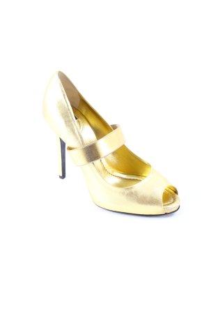 Dolce & Gabbana Peeptoe Pumps goldfarben extravaganter Stil