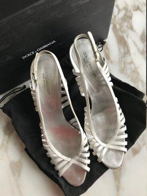 Dolce & Gabbana Peep Toe Pumps white