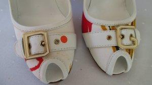 Dolce Gabbana Peeptoes weiss-bunt Gr. 37