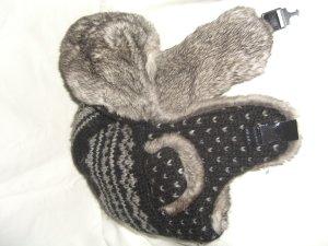 Dolce & Gabbana Chapeau en fourrure gris anthracite-gris laine