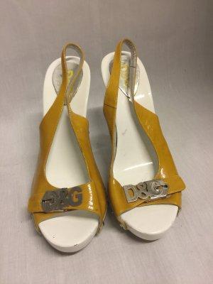 Dolce & Gabbana plateau Pumps Sandaletten Lack Leder 37