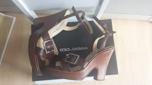 Dolce & Gabbana Platform High-Heeled Sandal brown-cognac-coloured