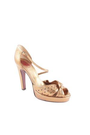 Dolce & Gabbana Plateau-Sandaletten goldfarben Casual-Look