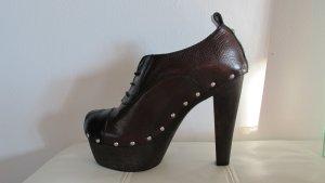 Dolce & Gabbana Stivaletto con plateau marrone scuro-nero
