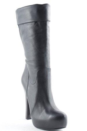 Dolce & Gabbana Plateau-Stiefel schwarz Casual-Look