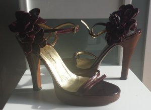 Dolce & Gabbana Sandales à talons hauts et plateforme multicolore cuir