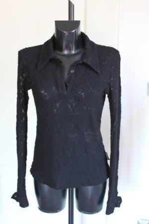 Dolce & Gabbana Polo Spitze mit Schleife schwarz tailliert S-M