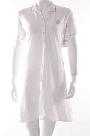 Dolce & Gabbana Polokleid weiß sportlicher Stil