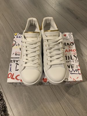 Dolce & Gabbana Heel Sneakers white-gold-colored