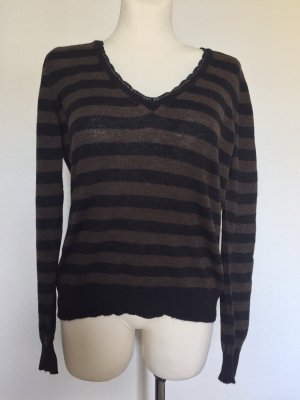 Dolce & Gabbana Wool Sweater dark brown-black