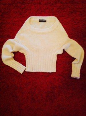Dolce & Gabbana Crewneck Sweater natural white alpaca wool