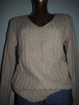 Dolce & Gabbana V-Neck Sweater beige-camel mixture fibre