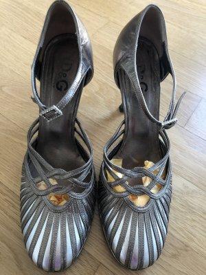 Dolce & Gabbana Escarpins Mary Jane doré-argenté
