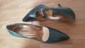 Dolce & Gabbana High Heels forest green leather