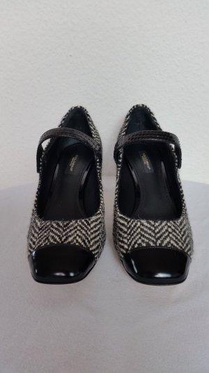 Dolce & Gabbana, Pumps, schwarz-weiß, Schurwolle/Leder/Python, EUR 37,5, neu