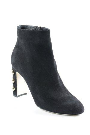 Dolce & Gabbana Reißverschluss-Stiefeletten schwarz-goldfarben Elegant