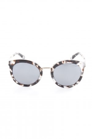 Dolce & Gabbana Retro Glasses black brown-slate-gray abstract pattern retro look
