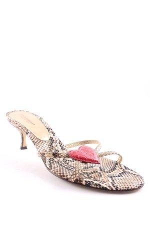 Dolce & Gabbana Riemchen-Sandalen Animalmuster extravaganter Stil